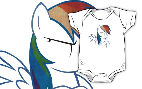 RainbowDash: Not amused Outline by LcPsycho