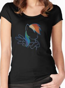 RainbowDash: Not amused Outline Women's Fitted Scoop T-Shirt