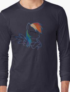 RainbowDash: Not amused Outline Long Sleeve T-Shirt