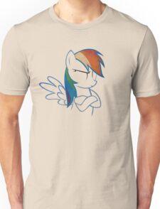 RainbowDash: Not amused Outline Unisex T-Shirt