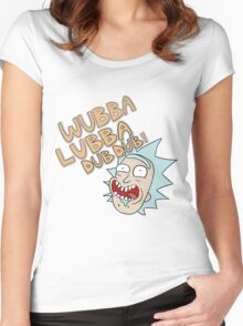Rick and Morty- Wubba Lubba Dub Dub! Women's Fitted Scoop T-Shirt