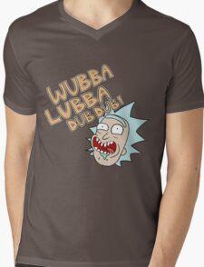 Rick and Morty- Wubba Lubba Dub Dub! Mens V-Neck T-Shirt