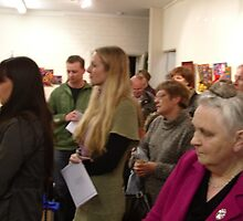 Angel Exhibition Opening 17 by Penny Hetherington