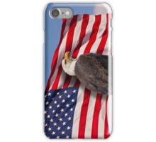 United we stand - Bald Eagle & American Flag iPhone Case/Skin
