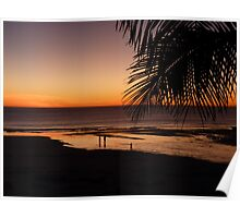 Broome Beach at  Sunset  Poster
