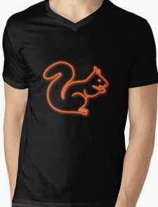 Neon squirrel hot orange Mens V-Neck T-Shirt