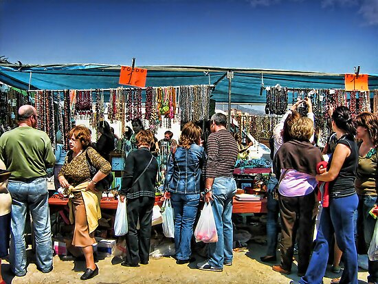 The Flea Market by Maria  Gonzalez