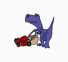 Funny T-Rex Dinosaur Mowing the Lawn Unisex T-Shirt