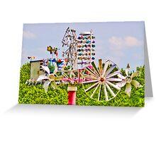 Crazy Wild Windmill Greeting Card