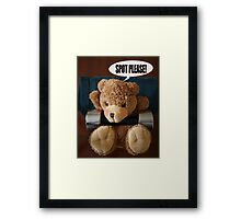 Griff Works Out Framed Print