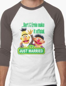 Bert & Ernie - Just Married Men's Baseball ¾ T-Shirt