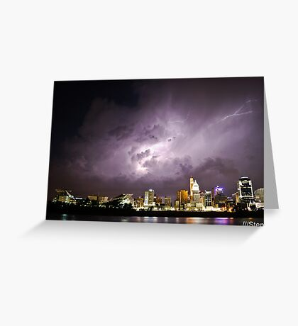 Electric Sky Greeting Card