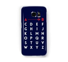 A to B (v2) Samsung Galaxy Case/Skin