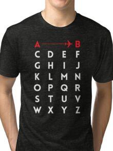 A to B (v2) Tri-blend T-Shirt
