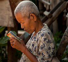 Khmer Elder by GayeL Art