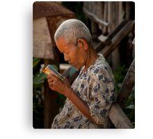 Khmer Elder Canvas Print