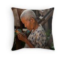 Khmer Elder Throw Pillow