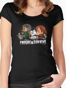 Chibi Joel and Ellie Women's Fitted Scoop T-Shirt