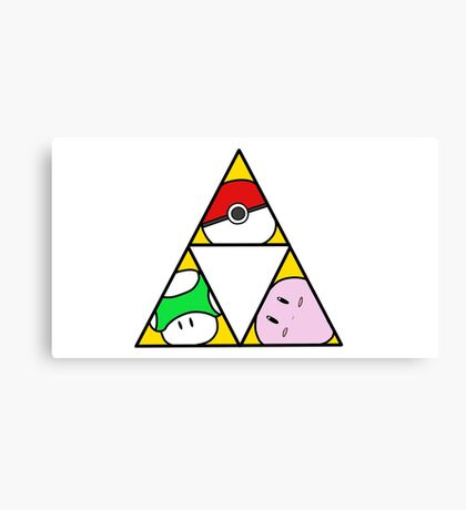 Triforce of Nintendo Canvas Print