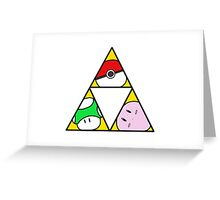 Triforce of Nintendo Greeting Card