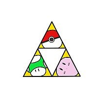 Triforce of Nintendo Photographic Print