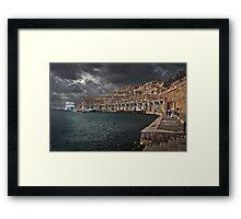 Jetty Valletta, Malta  Framed Print