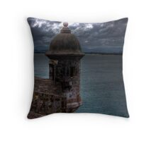 Watching the clouds Throw Pillow