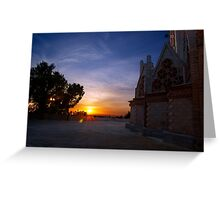 Sunset on the sanctuary Greeting Card