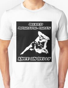 Mixed Martial Arts Knee On Belly Black  Unisex T-Shirt