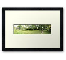 field leading to the tennis courts -(120811)- digital photo Framed Print