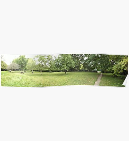 field leading to the tennis courts -(120811)- digital photo Poster