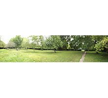 field leading to the tennis courts -(120811)- digital photo Photographic Print