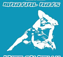 Mixed Martial Arts Knee On Belly Blue  by yin888