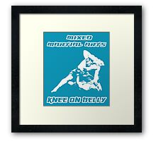 Mixed Martial Arts Knee On Belly Blue  Framed Print