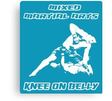 Mixed Martial Arts Knee On Belly Blue  Canvas Print