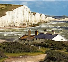 Cuckmere Haven Cottages by Darren Wilkin