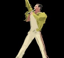 Freddie Mercury by Nigel Silcock