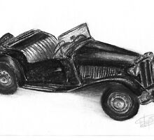 MG TD - classic car by BigBlue222