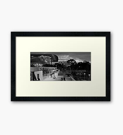 Night time... is the right time... Framed Print
