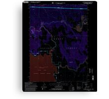 USGS Topo Map California Sagebrush Butte 294897 1993 24000 Inverted Canvas Print