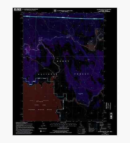 USGS Topo Map California Sagebrush Butte 294897 1993 24000 Inverted Photographic Print