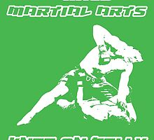 Mixed Martial Arts Knee On Belly Green  by yin888