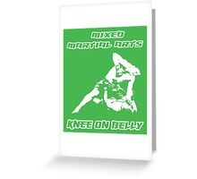 Mixed Martial Arts Knee On Belly Green  Greeting Card