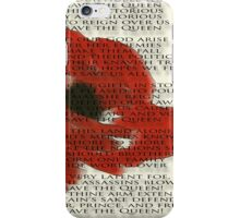 God save the Queen anthem over Poppie. iPhone Case/Skin