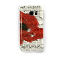 God save the Queen anthem over Poppie. Samsung Galaxy Case/Skin
