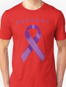Purple Awareness Ribbon of Support Unisex T-Shirt