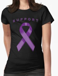 Purple Awareness Ribbon of Support Womens Fitted T-Shirt
