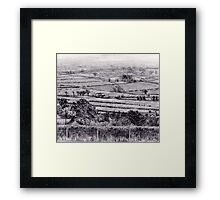 Fields at Axton, North Wales Framed Print