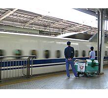 Bullet Train at Shin Osaka Station Photographic Print