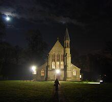 St Saviours church at night by Steve Davies